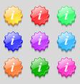 Information Info icon sign symbol on nine wavy vector image vector image