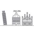 italy pisa line skyline vector image vector image
