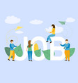 job concept of freelance with business standing fo vector image