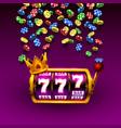 king slots 777 banner casino on purple vector image vector image