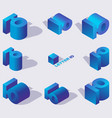 large collection of creative isometric 3d vector image vector image