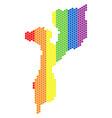 lgbt spectrum dot mozambique map vector image