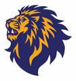 lion head roaring logo esport mascot design vector image