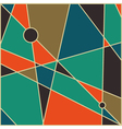 Mid century abstract background vector image vector image
