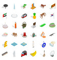 monk icons set isometric style vector image vector image