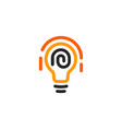 new idea symbol stylized lightbulbs icon vector image