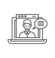 online video course line icon concept online vector image vector image
