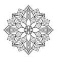 ornamental mandala art design coloring book page vector image vector image