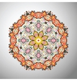 Ornamental round colorful geometric pattern in vector image