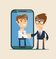 people shake hands flat vector image