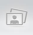 Personal foto album content icon vector image vector image