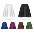 Pleated skirt template set vector image vector image