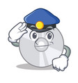 police cd character cartoon style vector image