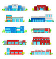 police department and fire station building icons vector image