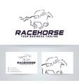 race horse logo design vector image vector image