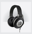realistic headphones isolated vector image