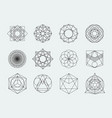 sacred geometry symbols collection set hipster vector image