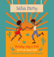 salsa party vector image vector image