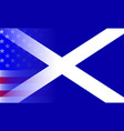scottish flag stars and stripes vector image vector image