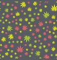 seamless texture marijuana two vector image vector image