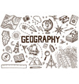 set geography symbols equipments for web vector image vector image
