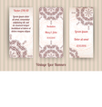set of 3 vintage lace banners vector image