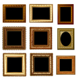 set retro frame vector image vector image