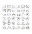 set washing symbols vector image vector image