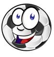 soccer ball cartoon mascot vector image vector image