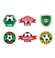 Soccer club logos set vector image vector image