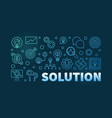 solution blue or banner on vector image vector image