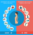 spine infographic vector image