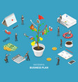 succesfull business plan flat isometric vector image