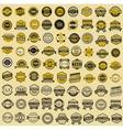 Taxi insignia - vintage style Big set vector image vector image
