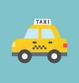 taxi transportation icon flat design vector image vector image