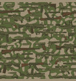 vintage military seamless pattern vector image vector image