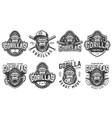 vintage sport teams logotypes set vector image vector image