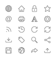 Web thin icons vector image vector image