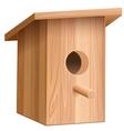 Wooden house for bird Nesting box vector image