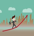 Growth of progressive business vector image