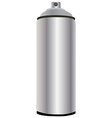 Spray bottle aluminum vector image