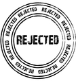Black stamps for rejected vector image
