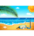 A beach with a shinning sun vector image vector image