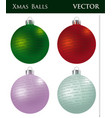 a set of colored christmas balls vector image vector image