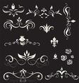 A set of vintage design elements vector image vector image
