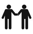 agreement icon simple style vector image vector image