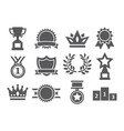 Awards icons vector image vector image