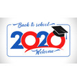 back to school 2020 vector image vector image