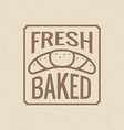 Bakery symbol vector image vector image