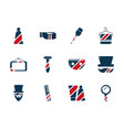 barber shop accessories tools cosmetics icons set vector image